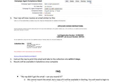 How To Submit a Drug Test Order in Salesforce